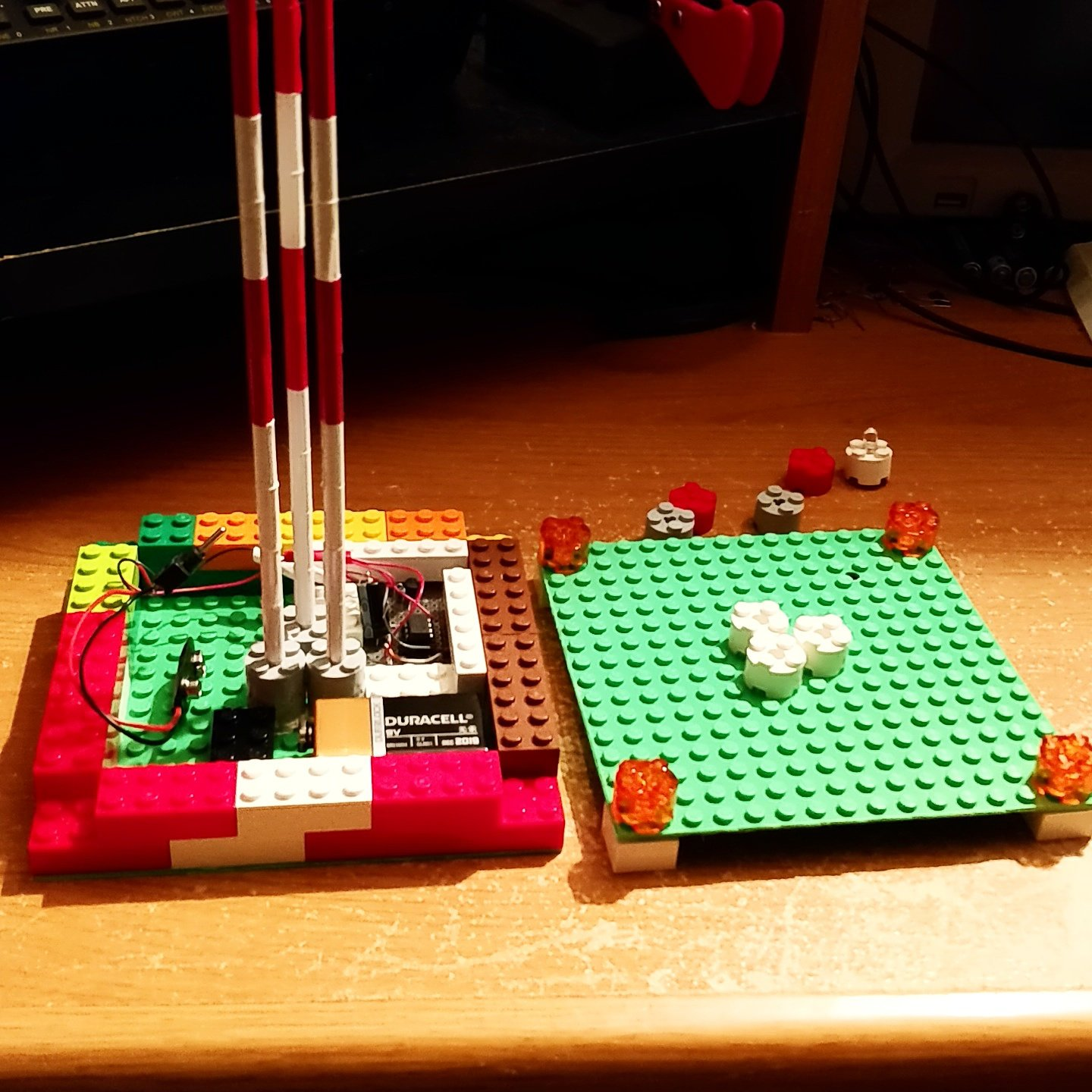 Model Radio Tower Using 555 Timer And Lego Bricks Mike Gualtieri Weekend Projects I Often Start A Project Grabbing An Arduino Or Raspberry Pi But This Time Reached For The Trusty