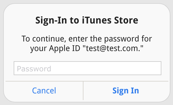 iTunes phishing popup