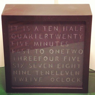 arduino word clock