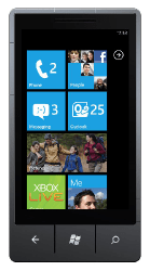 Windows Phone 7 Start Screen